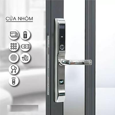 Khóa cửa nhôm Hulux Hi-86SDL màu bạc